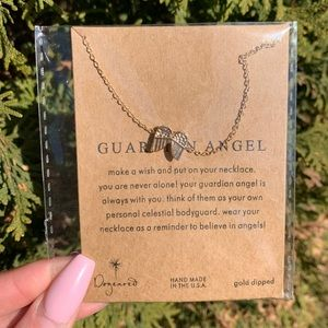"Gold Tone & Silver Tone ""Guardian Angel"" Necklace"
